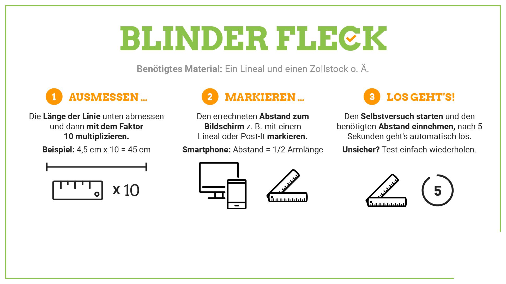 Selbstversuch Blinder Fleck 1