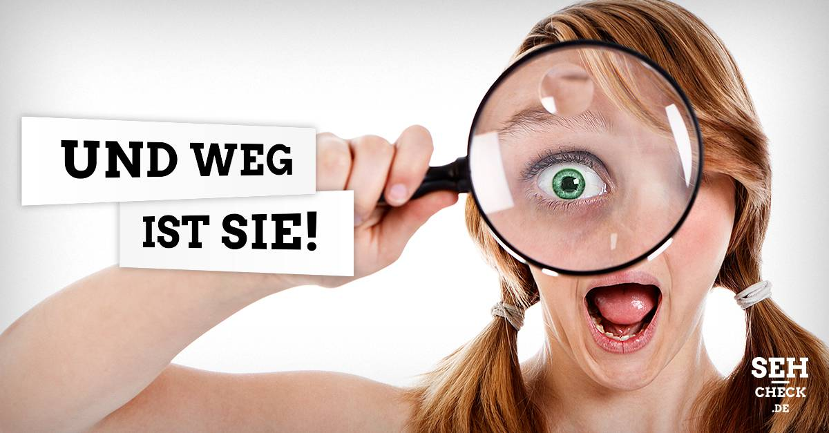 Können Kontaktlinsen hinter die Augen rutschen?
