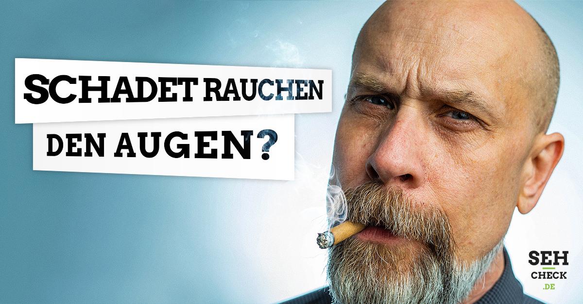 Rauchen schädlich für die Augen