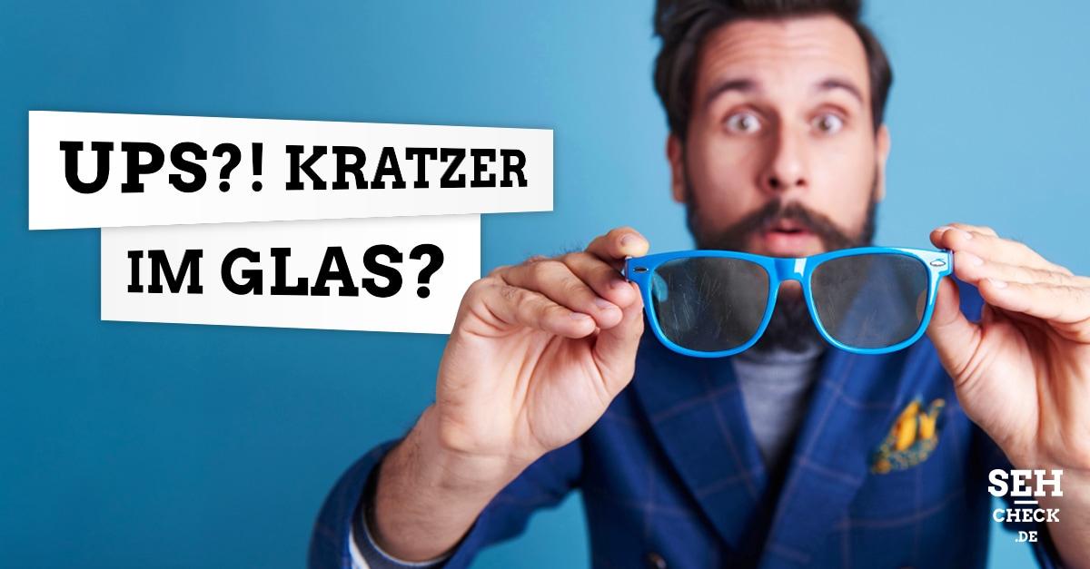 Kratzer im Brillenglas
