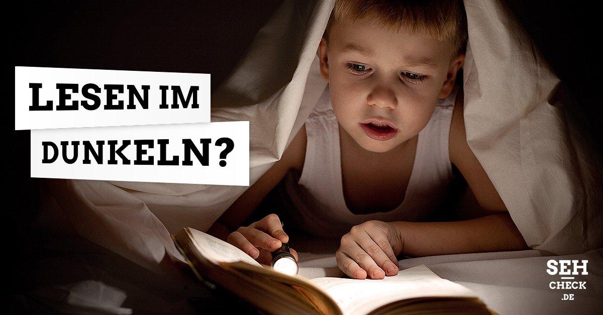 Lesen unter der Bettdecke schlecht für die Augen
