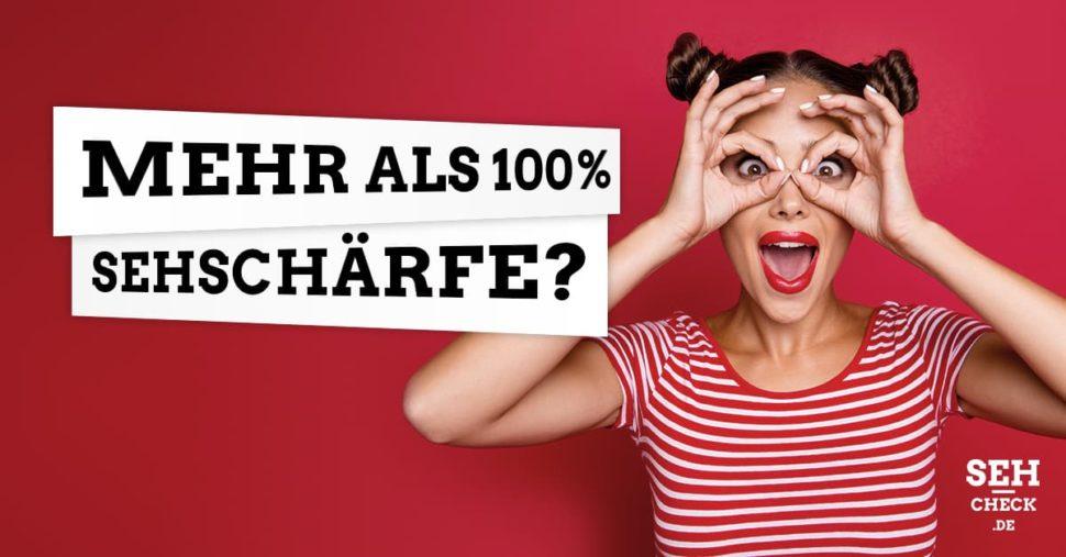 Kann ein Mensch mehr als 100% Sehschärfe haben?